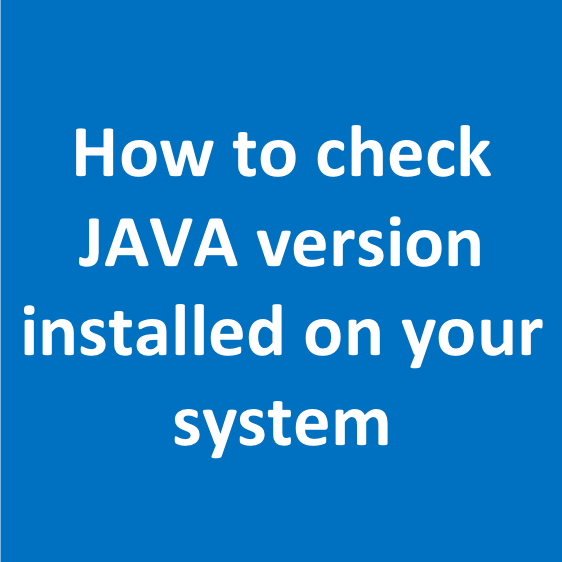 check java version linux